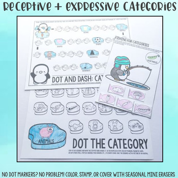 Penguin Low to No Prep Speech Therapy Activities