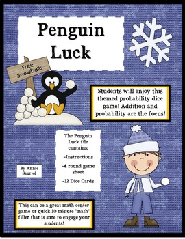 Penguin Luck: A Probability Math Dice Game!