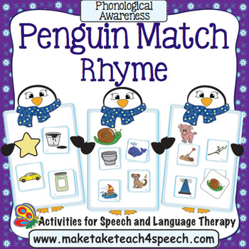Penguin Match for Rhyme