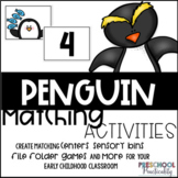 Penguin Matching Activities:  Letters, Counting, Shapes, and More