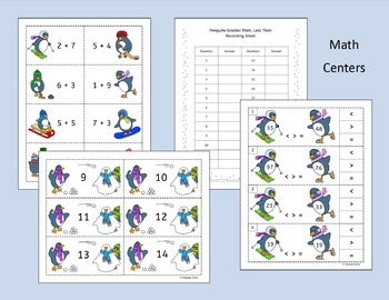 First Grade Math - Winter Penguin theme