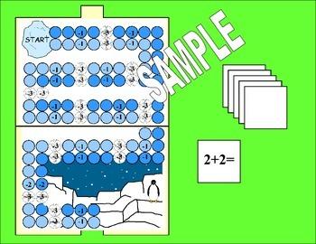 Penguin Math Board Game For Kindergarten 1 2 By Maritza Good Idea