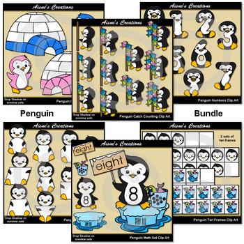Penguin Math Clip Art Bundle