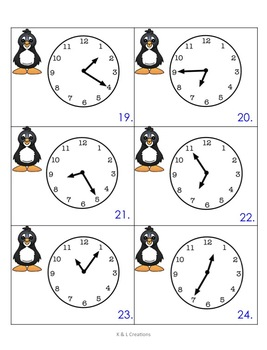 Penguin Math Centers/Task Cards for Second Grade