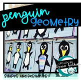 Penguin Math Craftivity Shapes and Perimeter