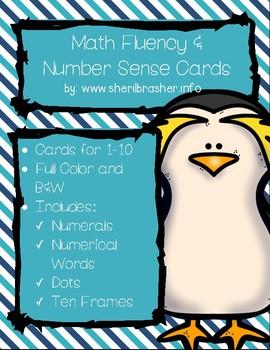 Penguin Math Fluency & Number Sense Cards   English   1-10