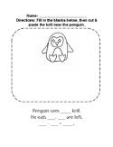 Penguin Math Handout Arctic Animals