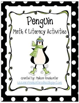 Penguin Math & Literacy Activities