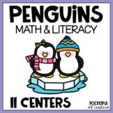 Penguins Math & Literacy Centers for Pre-K and Kindergarten {BUNDLE}