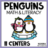 Penguins Math & Literacy Centers for Pre-K and Kindergarten {BUNDLE}