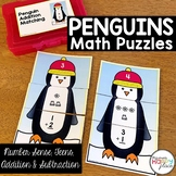 Penguin Math Puzzles - Number Sense, Teen Numbers, Addition, and Subtraction