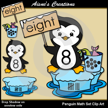 Penguin Math Clip Art Set