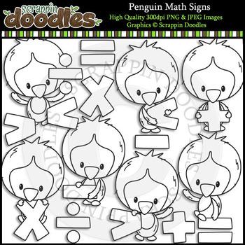 Penguin Math Signs