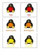 Penguin Memory Game with Spanish and English Colors