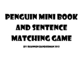 Penguin Mini Book and Sentence Matching Game
