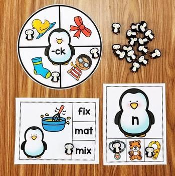 Penguin Mini Eraser Activities