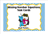 Penguin Missing Number Equations Task Cards
