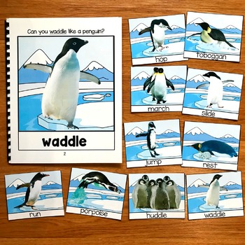 Penguin Movement Cards (And Book!) With Real Photos