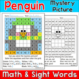 Penguin Math & Sight Words Mystery Picture - A Fun Winter Activity