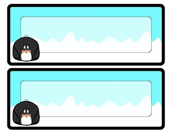 Penguin Name Plate