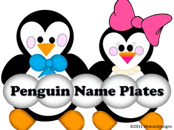 Penguin Name Plates