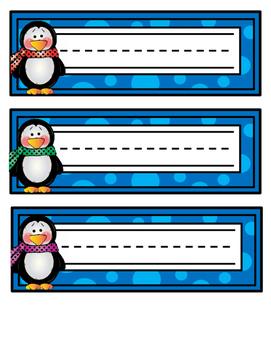 Penguin Name Tags - Printable Name Tags