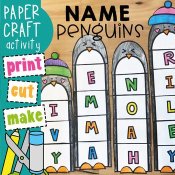 Penguin Name / Word Winter Craft Activity