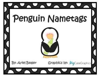 Penguin Nametags