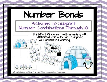 Penguin Number Bonds!  Activities to Support Number Combinations to 10