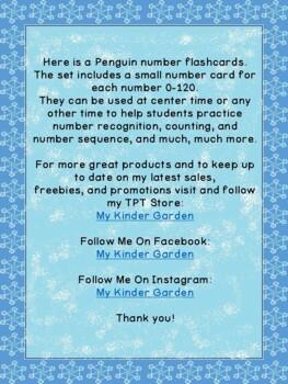 Penguin Math Number Flashcards 0-100