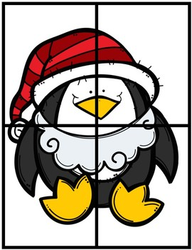Penguin Number Fluency Puzzle Cards | English | 1-10
