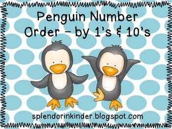 Penguin Number Order Activity