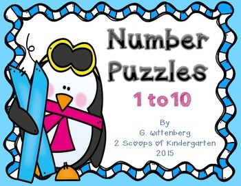 Penguin Number Puzzles 1 - 10 {FREEBIE}