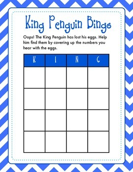 Penguin Number Recognition, Adding, & Subtracting Bingo