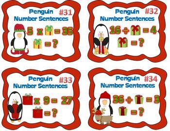 Penguin Number Sentences