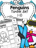 Penguin Number Sort 1-10