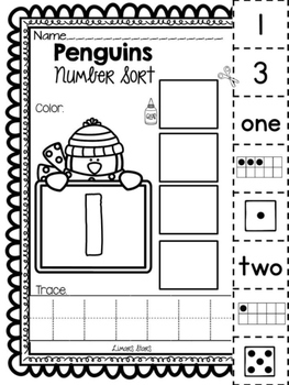 Penguin Number Sort 1-10
