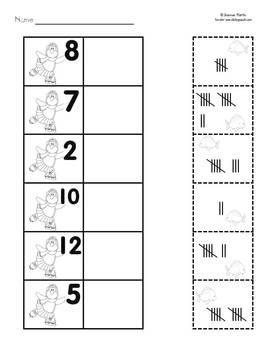 Penguin Number Tally Worksheet