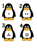 Penguin Numbers with Dots 1-20 Flashcards