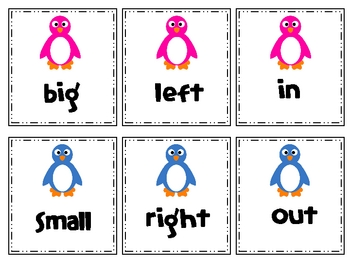 Penguin Opposite Matching Cards