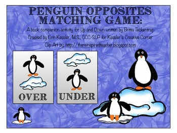 Penguin Opposites Matching Game (A Book Companion)