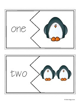 Penguin Pair Up - Number Words