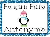 Penguin Pairs (Antonyms) - January Literacy Center for 2nd