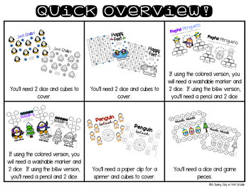 Penguin Palooza {6 math games!}