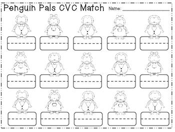 Penguin Pals 1st Grade ELA Centers (8 CCSS Centers)