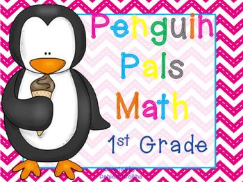 Penguin Pals 1st Grade Math Pack (8 CCSS Centers)