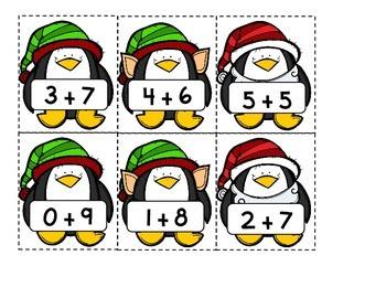 Penguin Pals! Balancing Addition Facts Activity