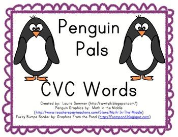 Penguin Pals CVC Words