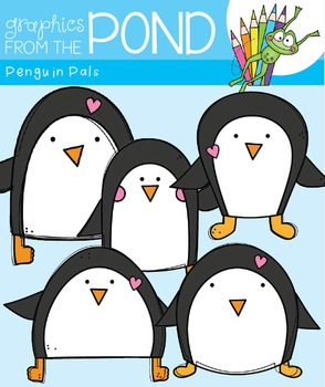 Penguin Pals Clipart Set