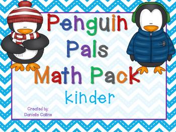 Penguin Pals Kindergarten Math Pack (8 CCSS centers)